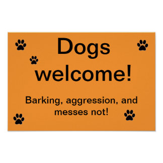 Hundewillkommen Poster