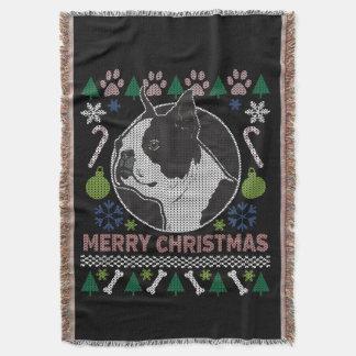 Hundezucht-hässliche Weihnachtsstrickjacke Bostons Decke