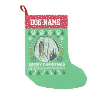 Hundezucht-hässliche Weihnachtsstrickjacke Lhasas Kleiner Weihnachtsstrumpf