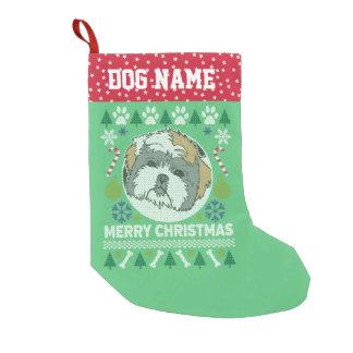 Hundezucht-hässliche Weihnachtsstrickjacke Shih Kleiner Weihnachtsstrumpf