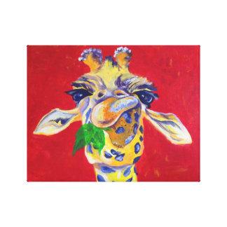 Hungrige Giraffen-Acryldruck Leinwanddruck