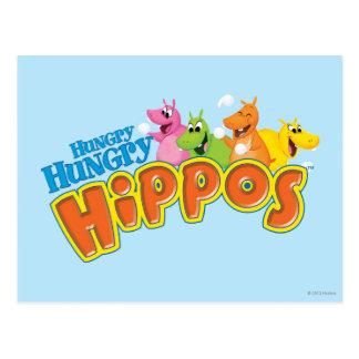 Hungrige hungrige Flusspferde Postkarte