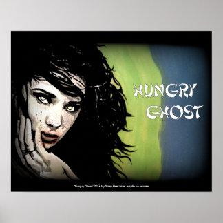 """""""Hungriger Geist"""" II auf einem Plakat"""