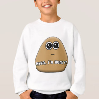 Hungriges Pou mit Text Sweatshirt