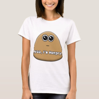 Hungriges Pou mit Text T-Shirt
