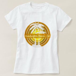 Huntington Beach, CA mit Palmen T-Shirt
