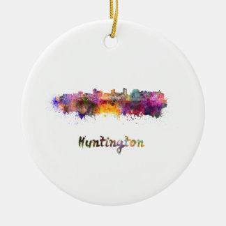 Huntington skyline im Watercolor Keramik Ornament