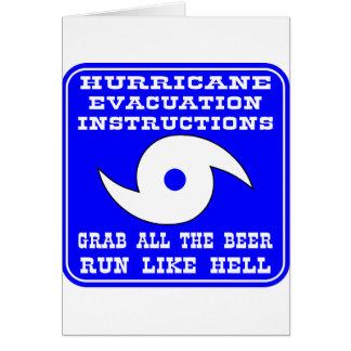 Hurrikan-Evakuierungs-Anweisungs-Plan Karte