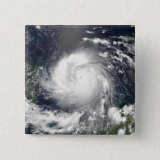 Hurrikan Felix Quadratischer Button 5,1 Cm