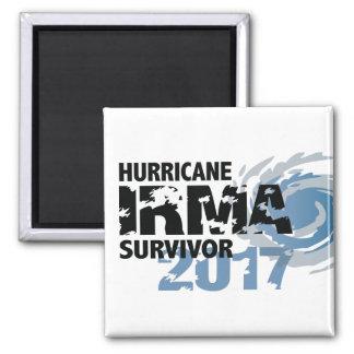 Hurrikan-Irma-Überlebend-Floridamagnet 2017 Quadratischer Magnet