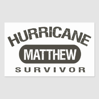 Hurrikan-Matthew-Überlebender im Oktober 2016 Rechteckiger Aufkleber