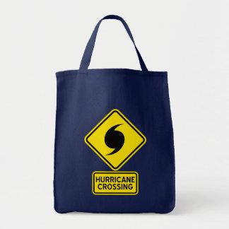 Hurrikan-Überfahrt-Zeichen Tragetasche