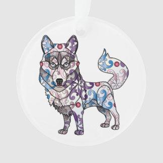 Husky-Kreis-Verzierung Ornament