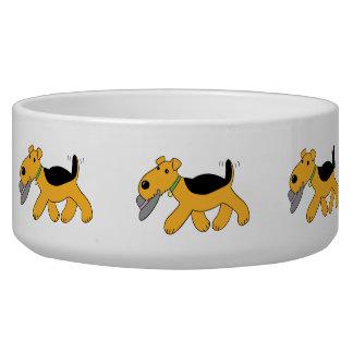 Hut-große Hundeschüssel Kawaii Airedale Terrier Napf