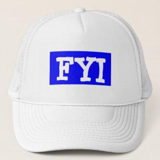 Hut-Kappe ~ TextMsg FYI-For Your Information Retro Truckerkappe