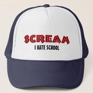 Hut-Schrei hasse ich Schule Truckerkappe