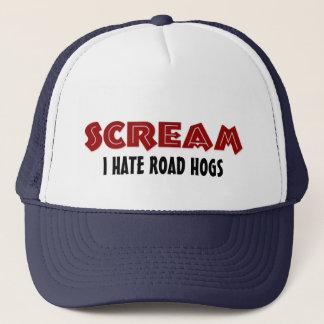 Hut-Schrei hasse ich Straßen-Schweine Truckerkappe