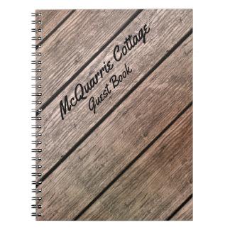 Hütten-Kabine oder Boots-Gast-Buch Notizblock
