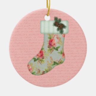 Hütten-WeihnachtsStrumpf-Verzierung Keramik Ornament