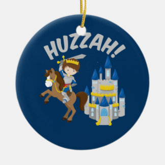 Huzzah Renaissance Faire Ritter Rundes Keramik Ornament
