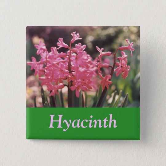 Hyazinthen-Gruppe Quadratischer Button 5,1 Cm