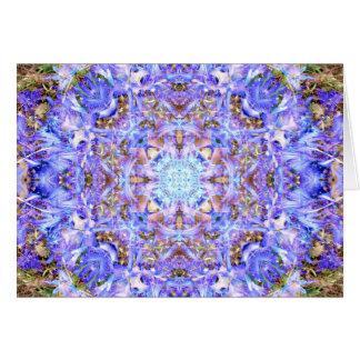 Hyazinthen-Mandala Grußkarte
