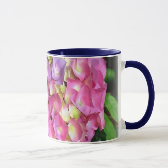 Hydrangea-Blumen-Blüten-Tasse Tasse