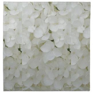 Hydrangea-Blumen-weiße elegante mit Blumenblüte Serviette