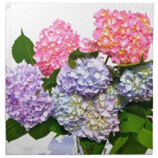 Hydrangea-Blumenstrauß Stoffserviette