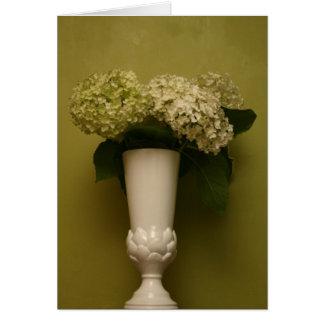 Hydrangea-Vase Karte