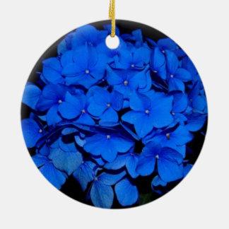 Hydrangea-Weihnachtsverzierung Rundes Keramik Ornament