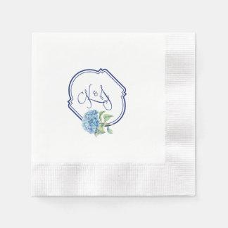 Hydrangeacocktailservietten für Kristen u. Papierserviette