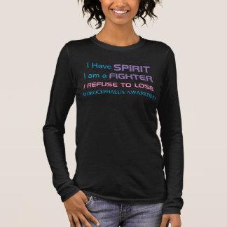 Hydrocephalus-Bewusstsein. Ich lehne ab, Kämpfer Langarm T-Shirt