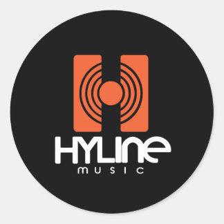Hyline Music Sticker Round