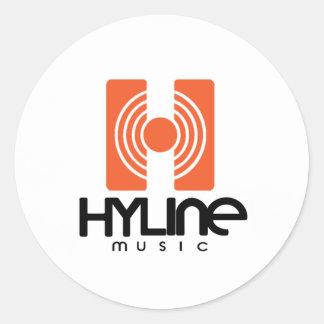 Hyline Music Sticker Small Round