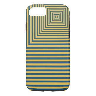 Hypnose-Meditations-Schwerpunkt blau und gelb iPhone 8/7 Hülle