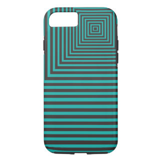 Hypnose quadrierte das aquamarine und schwarze iPhone 8/7 hülle