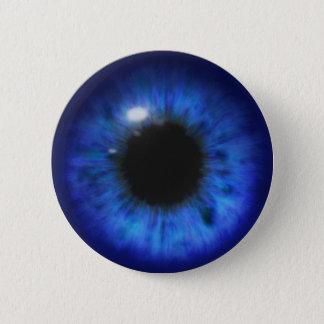 Hypnotische tiefe blaue Augen Runder Button 5,1 Cm