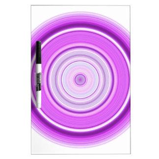 Hypnotischer Kreis lila Trockenlöschtafel