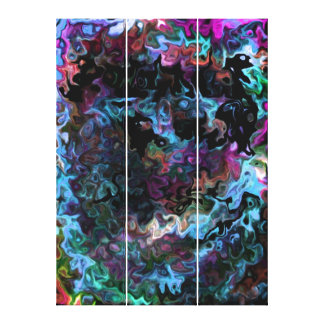 hypnotisches Wirbles abstraktes Leinwanddruck