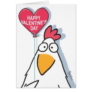HYPNOTISIERTE HUHN Valentinsgrüße durch Boynton Grußkarte