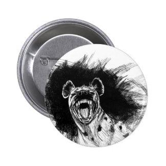 Hysterische Hyäne Runder Button 5,7 Cm