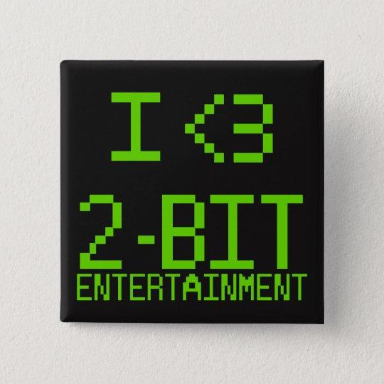 I <3 2-Bit Unterhaltungs-Button Quadratischer Button 5,1 Cm