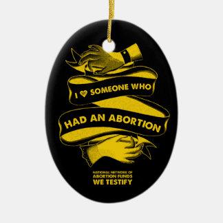 I <3 jemand, das eine Abtreibungs-Verzierung hatte Keramik Ornament