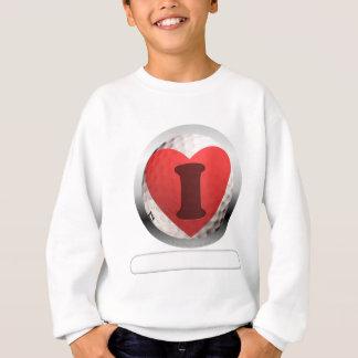 I addieren HERZ-GOLF Ihre Wörter Sweatshirt