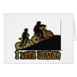 I Bonk das Liebe-Radfahren Karte
