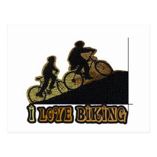 I Bonk das Liebe-Radfahren Postkarte