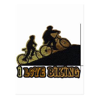 I Bonk das Liebe-Radfahren Postkarten