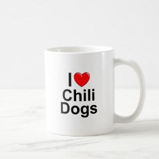 I Chili-Hunde der Liebe-(Herz) Kaffeetasse