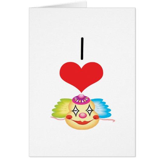 I Clowns des Herz-(Liebe) Grußkarte